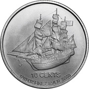 10 cents - Elizabeth II (Bounty) – revers