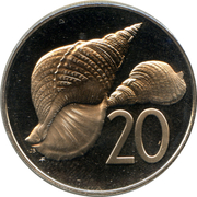 20 cents - Elizabeth II (2e effigie) – revers