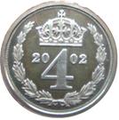 4 pence Elizabeth II Maundy money – revers