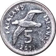 5 pence - Elizabeth II (4eme effigie, magnétique) – revers