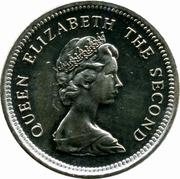 5 pence - Elizabeth II (2eme effigie - petit module) – avers