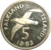 5 pence - Elizabeth II (2eme effigie; grand module) – revers