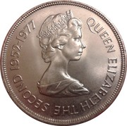 50 pence - Elizabeth II (2eme effigie - jubilé d'argent) – avers