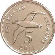 5 pence - Elizabeth II (4eme effigie) – revers
