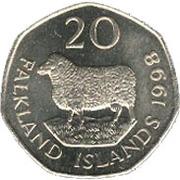 20 pence - Elizabeth II (2eme effigie) – revers