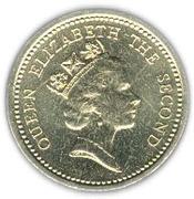 1 pound - Elizabeth II (3eme effigie) -  avers