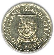 1 pound - Elizabeth II (3eme effigie) -  revers