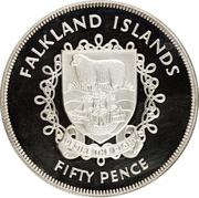 50 pence - Elizabeth II – revers