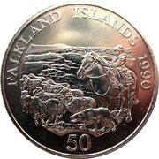 50 Pence - Elizabeth II (Children's Fund) -  revers