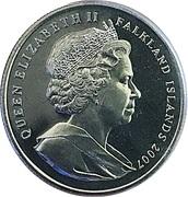 1 Crown - elizabeth II (25th Anniversary of Liberation) -  avers