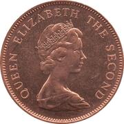 2 pence - Elizabeth II (2eme effigie) – avers