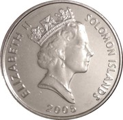 5 cents - Elizabeth II (3° effigie) -  avers