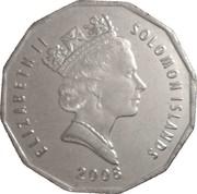 50 cents - Elizabeth II (3ème effigie, magnétique) – avers