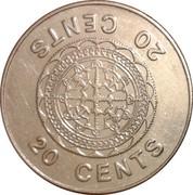 20 cents - Elizabeth II (3ème effigie) – revers