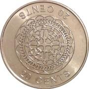 20 cents - Elizabeth II (4ème effigie) – revers
