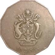 50 cents - Elizabeth II (3ème effigie ; non-magnétique) – revers