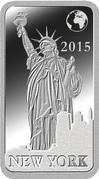 ½ Dollar - Elizabeth II (New York) – revers
