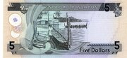 5 Dollars 1997 – revers