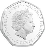 20 Cents - Elizabeth II (Unity in the Sky) – avers