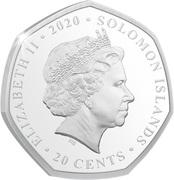 20 Cents - Elizabeth II (Droop Snoot) – avers
