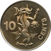 10 cents - Elizabeth II (2ème effigie) – revers