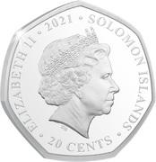 20 Cents - Elizabeth II (Tyrannosaurus Rex) – avers