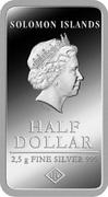 ½ Dollar - Elizabeth II (Rio de Janeiro) – avers