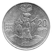 20 cents - Elizabeth II (3ème effigie ; FAO) – revers