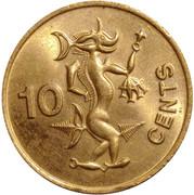 10 cents - Elizabeth II (2° effigie) – revers