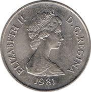 ½ crown - Elizabeth II (2eme effigie) – avers