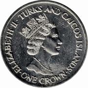 1 crown - Elizabeth II (3eme effigie; Anniversaire de mariage) – avers