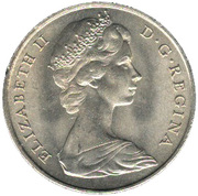 1 crown - Elizabeth II (2eme effigie) – avers