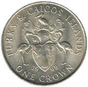 1 crown - Elizabeth II (2eme effigie) – revers