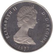 1 crown - Elizabeth II (2eme effigie - carte) – avers