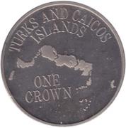 1 crown - Elizabeth II (2eme effigie - carte) – revers
