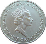 1 Crown - Elizabeth II (90ème anniversaire de la Reine mère) – avers