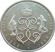 1 Crown - Elizabeth II (90ème anniversaire de la Reine mère) – revers