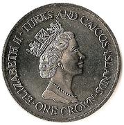 1 Crown - Elizabeth II (70ème anniversaire du prince Philip) – avers