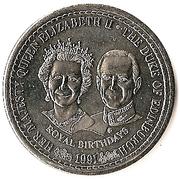 1 Crown - Elizabeth II (70ème anniversaire du prince Philip) – revers
