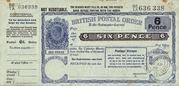 6 Pence - Postal Order – avers