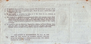 6 Pence - Postal Order – revers