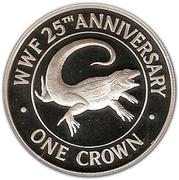 1 crown - Elizabeth II (2eme effigie - WWF) – revers