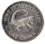 1 Crown - Elizabeth II (25ème anniversaire du WWF) – revers