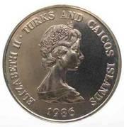 1 crown - Elizabeth II (2eme effigie - Mariage du Prince Andrew) – avers