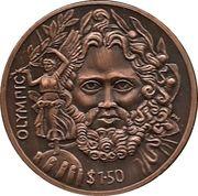 1.5 Dollar - Elizabeth II / Father of the Modern Olympics – revers