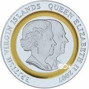 5 Dollars - Elizabeth II (Diamond Wedding) – avers