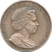 15 Dollars - Elizabeth II / Father of the Modern Olympics – avers