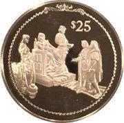 25 Dollars - Elizabeth II (Columbus before Queen Isabella) – revers