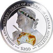 200 Dollars - Elizabeth II (Emperor August) – revers