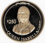 250 Dollars - Elizabeth II (Discovery of America) – revers